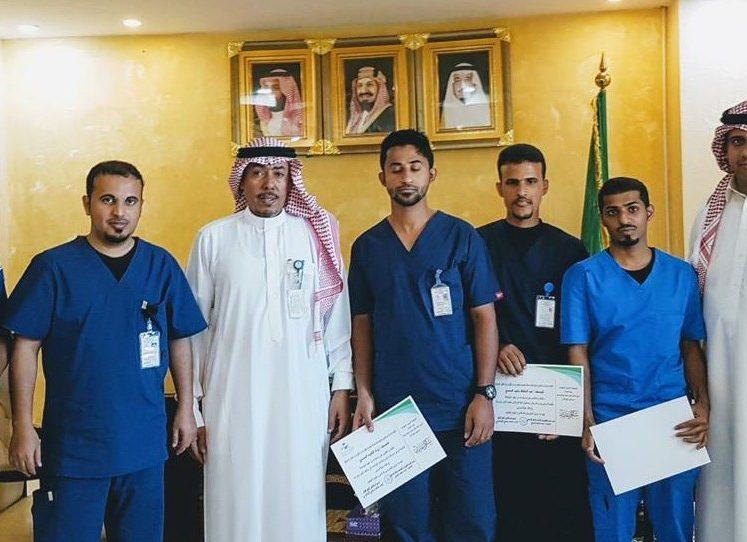 1441 مدير مستشفى أملج يكرم المسعفين بقسم النقل الاسعافي والطوارئ بمستشفى أملج العام