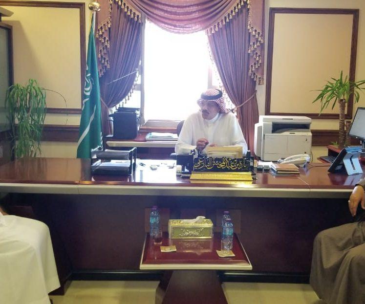 محافظ املج يستقبل رئيس ادبي تبوك الدكتور نايف بن دخيل الله الجهني