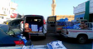 جمعية البر والخدمات الاجتماعية بأملج توزع سلال غذائية ومستلزمات وقائية للمستفيدين