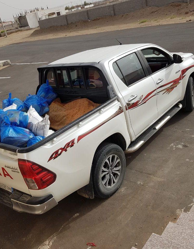 جمعية روافد النصبة الخيرية تطلق حملة توزيع السلال الرمضانية على مستفيديها