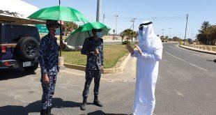 محافظ أملج يهنئ رجال الأمن بالعيد ويتابع تطبيق الأجراءات الأحترازية ميدانيآ