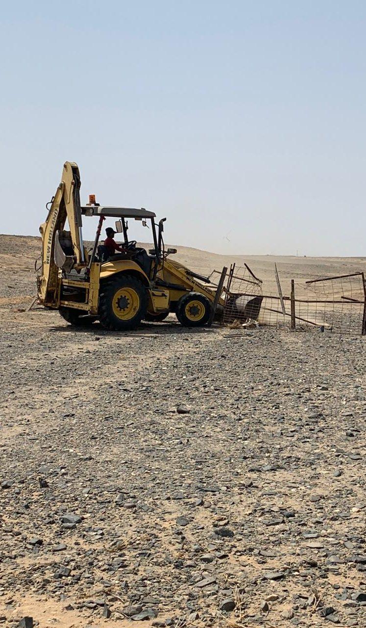 إزالة تعديات بمساحه إجماليه تزيد عن ١٥٠ الف متر مربع بمركز الحسي