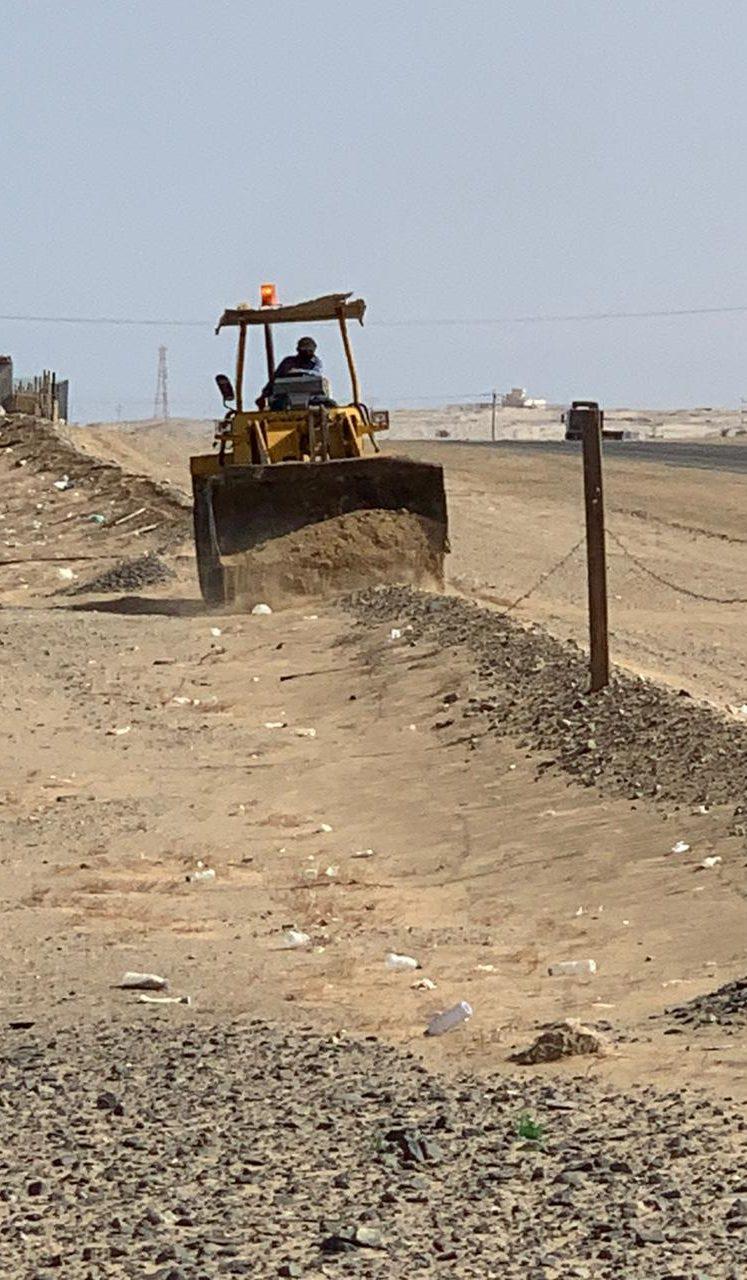مركز الحسي محافظة املج إزالة تعديات بمساحه إجماليه تزيد عن 30,000 متر مربع