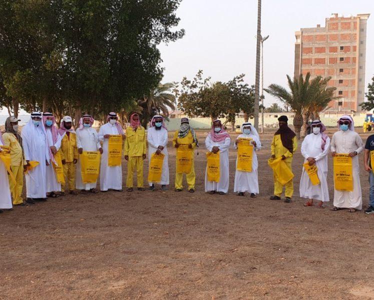 أهالي أملج يطلقون مبادرة توعوية للمحافظة على النظافة في المنتزهات و الأماكن العامة