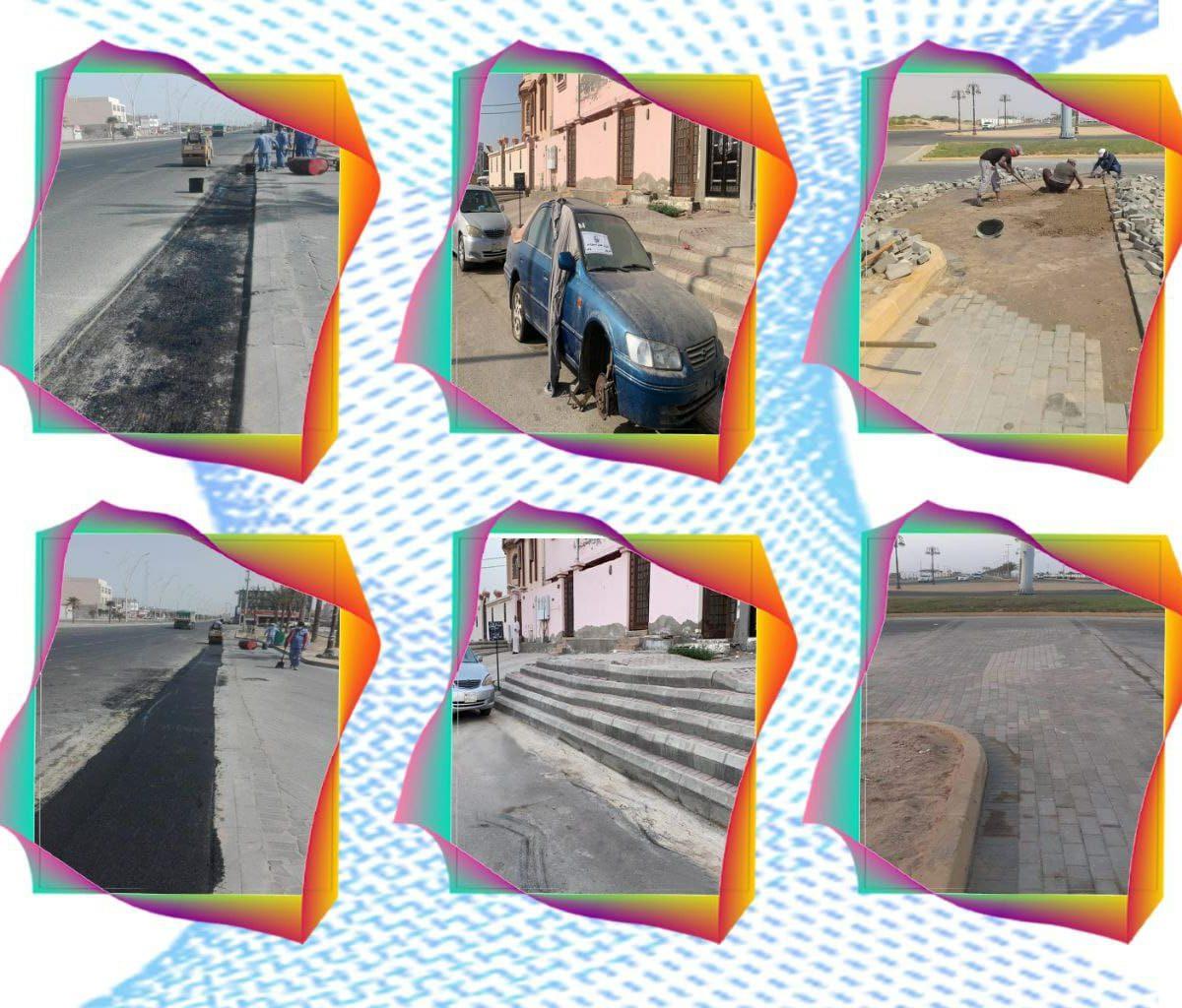 بلدية محافظة أملج تنفذ حملة لمعالجة التشوه البصري